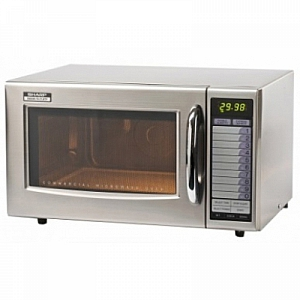 Sharp R21AT 1.0 cuft 1000W Commercial flatbed microwave